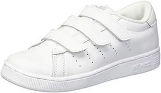 K-Swiss Unisex-Kids Clean Court 3-Strap Sneaker