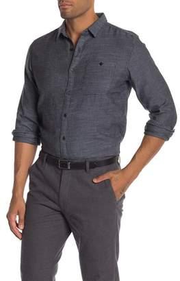 Knowledge Cotton Apparel Slub Yarn Shirt