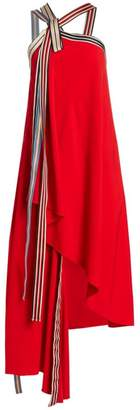 Monse Racing Stripe Grosgrain Tie Dress