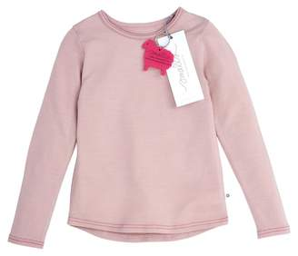 Smalls Long Sleeve Misty Rose, Classic Pink Stitch