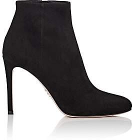 Prada Women's Suede Ankle Boots - Nero