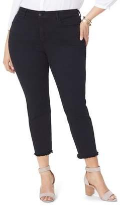 NYDJ Sheri Fray Hem Stretch Slim Ankle Jeans