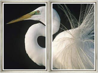 William Stafford Great Egret Diptych Art