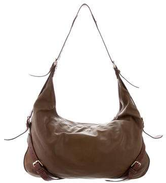 Pre Owned At Therealreal Burberry Leather Hobo Bag