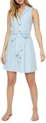 Vero Moda Buttoned Sleeveless Shirt Dress