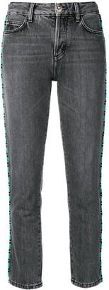Alanui bead-embellished skinny jeans