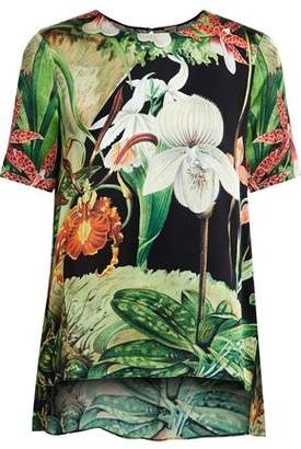 ADAM by Adam Lippes Printed Silk Top