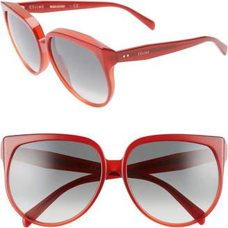 8c3557477a8d Celine 62mm Special Fit Oversize Cat Eye Sunglasses