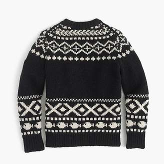 J.Crew Boys' polar bear Fair Isle crewneck sweater