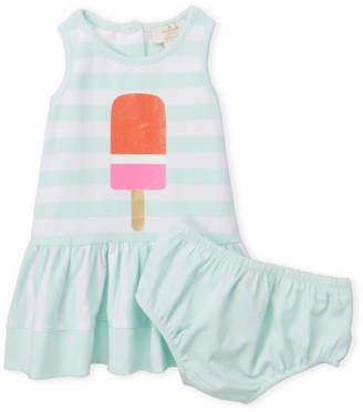 Kate Spade Infant Girls) Two-Piece Ice Pop Stripe Dress & Bloomers Set