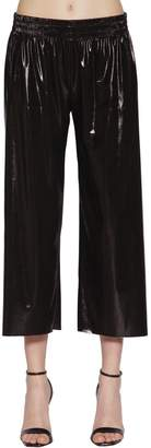 Norma Kamali Metallic Stretch Jersey Crop Pants
