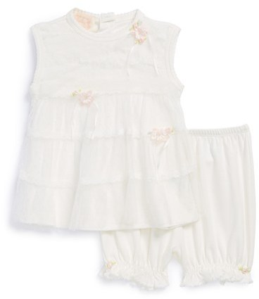Biscotti 'Dainty' Lace Top & Bloomers (Baby Girls)