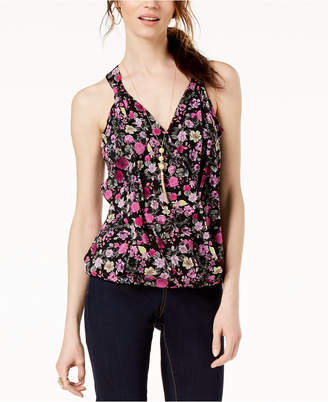 INC International Concepts I.n.c. Printed Surplice-Neck Top, Created for Macy's