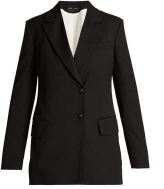 Proenza Schouler Single Breasted Wool Blend Blazer - Womens - Black