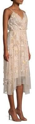 Elie Tahari Lisandra High-Low Crossover Dress