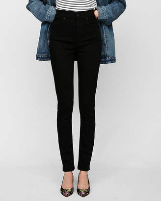Express Super High Waisted Black Stretch Ankle Jean Leggings