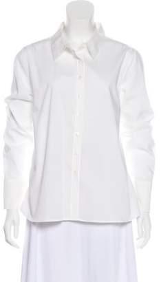 Gerard Darel Long Sleeve Button Up Top