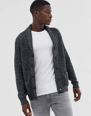 Pier 1 Imports wool blend cardigan in grey with chunky collar
