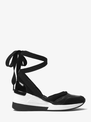 MICHAEL Michael Kors Vega Leather Lace-Up Sneaker