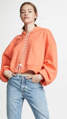 Unravel Project Lace Up Hoodie