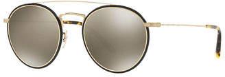Oliver Peoples Ellice Photochromic Titanium Round Sunglasses