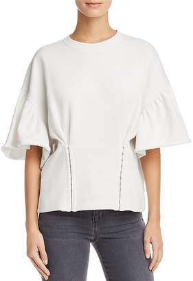 McQ Corseted French-Terry Sweatshirt