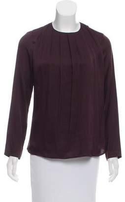 Kiton Pleated Silk Top