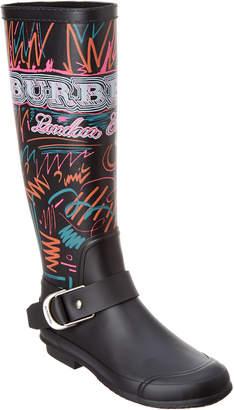 Burberry Doodle Print Rubber Rain Boot