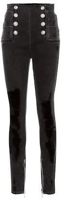 Balmain High-rise skinny jeans