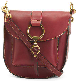 Ilana Leather Saddle Bag
