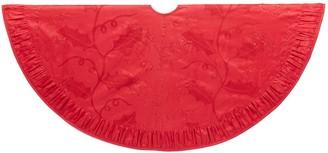 Kurt Adler Red Christmas Tree Skirt