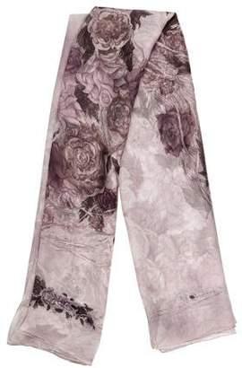 Alexander McQueen Floral Silk Shawl