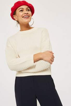Topshop Stitch Detail Sleeve Jumper