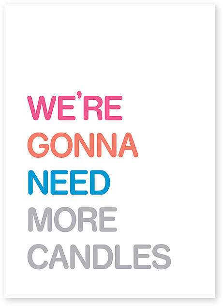 'More Candles' Birthday Card - Set of Six