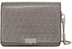 MICHAEL Michael Kors Laser-cut Metallic Patent-leather Shoulder Bag