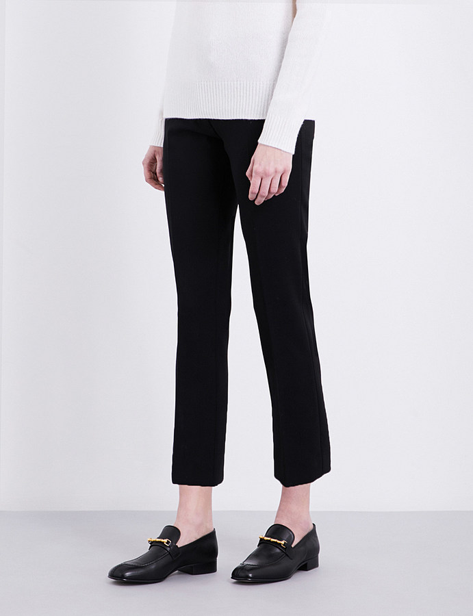 JOSEPH joseph Finley slim-fit cropped stretch-wool trousers
