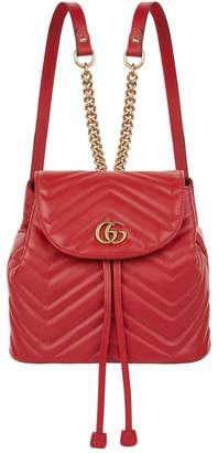 Gucci Marmont Matelasse Drawstring Backpack