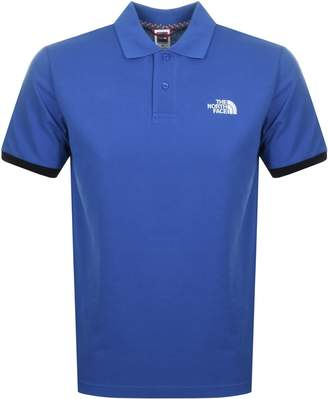 The North Face Logo Polo T Shirt Blue