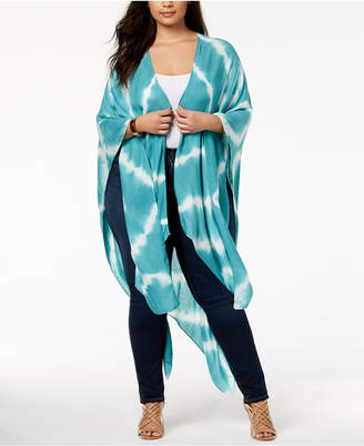 Say What Trendy Plus Size Tie-Dyed Kimono