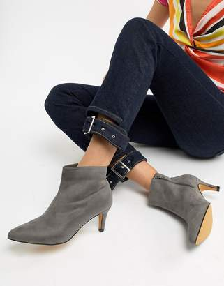 London Rebel Kitten Heel Ankle Boots