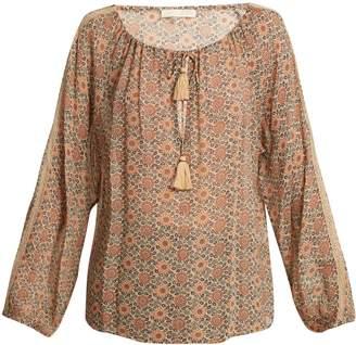 Vanessa Bruno Floral-print tassel tie-front blouse