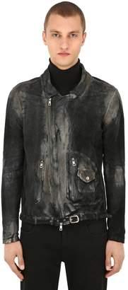 Giorgio Brato Chiodo Vintage Leather Jacket