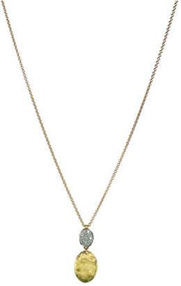 Marco Bicego Siviglia 18K Gold & Pavé Diamond Pendant Necklace