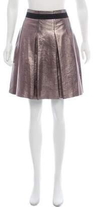 Dolce & Gabbana Metallic Godet Skirt