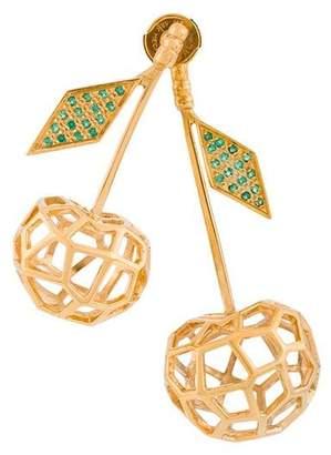 Natasha Zinko 18kt Gold cherries earrings