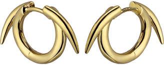 Shaun Leane Sterling silver gold vermeil thorned hoop earrings