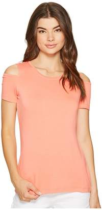 1 STATE 1.STATE Cold Shoulder Knit Top Women's Clothing