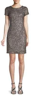 Adrianna Papell Sequin Beaded Mini Dress