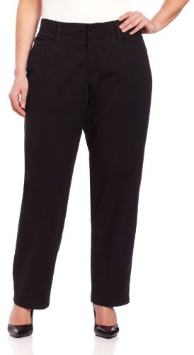 Lee Women's Plus-Size Relaxed Fit Plain Front Straight-Leg Pant