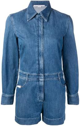 Stella McCartney slim-fit denim playsuit